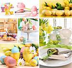 Collage of colorful images for easter Stock Photo - Royalty-Free, Artist: Sandralise, Code: 400-04340440