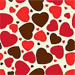 Cute hearts seamless background. EPS 8 vector file included