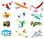 cartoon airplane icon Stock Photo - Royalty-Free, Artist: notkoo2008                    , Code: 400-04341271