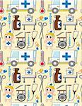 seamless hospital pattern