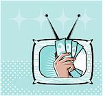 TV shop Business by TV Money illustration Stock Photo - Royalty-Free, Artist: icons                         , Code: 400-04343273