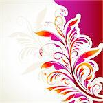 illustration of floral pattern on abstract background Stock Photo - Royalty-Free, Artist: vectomart                     , Code: 400-04343367