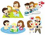 cartoon family icon Stock Photo - Royalty-Free, Artist: notkoo2008                    , Code: 400-04343474