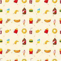 sandwich wrapper - seamless fast food pattern Stock Photo - Royalty-Freenull, Code: 400-04343483