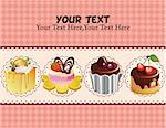 cartoon cake card Stock Photo - Royalty-Free, Artist: notkoo2008                    , Code: 400-04343484