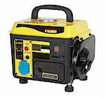 portable generator, electric power plant isolated on white Stock Photo - Royalty-Free, Artist: krasyuk                       , Code: 400-04344011