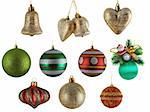 set of christmas balls isolated on white background Stock Photo - Royalty-Free, Artist: krasyuk                       , Code: 400-04344071