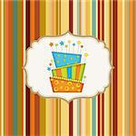 birthday background with cake Stock Photo - Royalty-Free, Artist: balasoiu                      , Code: 400-04344821