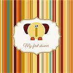 baby shower announcement card with elephant Stock Photo - Royalty-Free, Artist: balasoiu                      , Code: 400-04344822