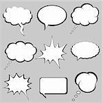 Speech and thought bubbles, balloons Stock Photo - Royalty-Free, Artist: soleilc                       , Code: 400-04345225