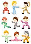 cartoon chinese Kung fu icon Stock Photo - Royalty-Free, Artist: notkoo2008                    , Code: 400-04346482