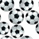 Vector soccer balls seamless pattern. Wallpaper or design sport background. Stock Photo - Royalty-Free, Artist: Sylverarts                    , Code: 400-04347034