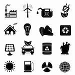 Eco symbols in icon set Stock Photo - Royalty-Free, Artist: soleilc                       , Code: 400-04347199