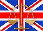 Scales on top of a flag of the United Kingdom Stock Photo - Royalty-Free, Artist: darrenwhi                     , Code: 400-04347447