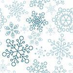 Winter - blue christmas seamless pattern / texture with snowflakes Stock Photo - Royalty-Free, Artist: orsonsurf                     , Code: 400-04347525