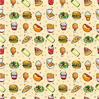 sandwich wrapper - seamless fast food pattern Stock Photo - Royalty-Freenull, Code: 400-04348035