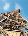 The top of the Eiffel Tower in Paris, France Stock Photo - Royalty-Free, Artist: lindom                        , Code: 400-04348746
