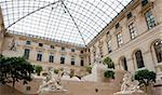 Sculpture yard in Louvre Museum, Paris Stock Photo - Royalty-Free, Artist: lindom                        , Code: 400-04348777