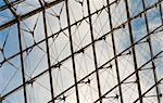 Glass roof on a blue sky Stock Photo - Royalty-Free, Artist: lindom                        , Code: 400-04348785