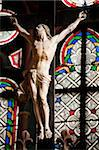 Statue  in Notre Dame cathedral in Paris Stock Photo - Royalty-Free, Artist: lindom                        , Code: 400-04348803