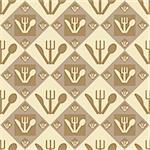 cute restaurant pattern Stock Photo - Royalty-Free, Artist: LxIsabelle                    , Code: 400-04349032