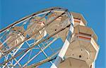 Retro Ferris Wheel Against Blue Sky in Myrtle Beach, SC, USA.