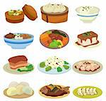 cartoon Chinese food icon Stock Photo - Royalty-Free, Artist: notkoo2008                    , Code: 400-04349132