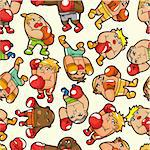 seamless boxer pattern Stock Photo - Royalty-Free, Artist: notkoo2008                    , Code: 400-04349135