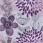 Floral seamless pattern in vector Stock Photo - Royalty-Free, Artist: sashayezik                    , Code: 400-04350544