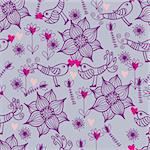 Floral seamless pattern in vector Stock Photo - Royalty-Free, Artist: sashayezik                    , Code: 400-04350545