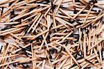 Many burned matches in random spread for background Stock Photo - Royalty-Free, Artist: fotostok_pdv                  , Code: 400-04350609