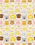 seamless animal head pattern Stock Photo - Royalty-Free, Artist: notkoo2008                    , Code: 400-04350795
