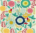Vector wall-paper with a flower pattern. Stock Photo - Royalty-Free, Artist: marinakim                     , Code: 400-04350971