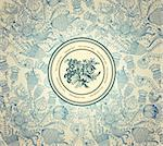 Vector classical wall-paper with a flower pattern. Stock Photo - Royalty-Free, Artist: marinakim                     , Code: 400-04350979