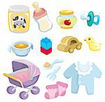 cartoon baby goods  icon Stock Photo - Royalty-Free, Artist: notkoo2008                    , Code: 400-04351459