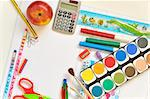 school things Stock Photo - Royalty-Free, Artist: jordache                      , Code: 400-04351643
