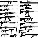 Layered vector illustration of various weapons. Stock Photo - Royalty-Free, Artist: tshooter                      , Code: 400-04352005