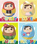 Russian Doll card Stock Photo - Royalty-Free, Artist: notkoo2008                    , Code: 400-04352382