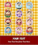 Russian Doll card Stock Photo - Royalty-Free, Artist: notkoo2008                    , Code: 400-04352383