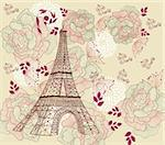 Vector card with eiffel tour Stock Photo - Royalty-Free, Artist: marinakim                     , Code: 400-04352587