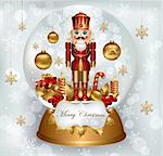 Christmas snow globe with Nutcracker Stock Photo - Royalty-Free, Artist: marinakim                     , Code: 400-04352597