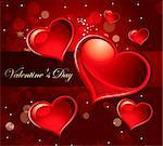 The Valentine's day. Beautiful background Stock Photo - Royalty-Free, Artist: marinakim                     , Code: 400-04352605