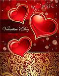 Beautiful holiday card with heart Stock Photo - Royalty-Free, Artist: marinakim                     , Code: 400-04352607