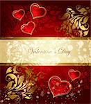 Beautiful holiday card with heart Stock Photo - Royalty-Free, Artist: marinakim                     , Code: 400-04352615