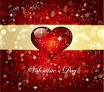 The Valentine's day. Beautiful background Stock Photo - Royalty-Free, Artist: marinakim                     , Code: 400-04352625