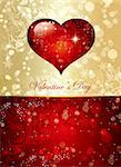 The Valentine's day. Beautiful background Stock Photo - Royalty-Free, Artist: marinakim                     , Code: 400-04352627