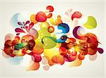 Abstract vector illustration with transparent splashes and bubbles Stock Photo - Royalty-Free, Artist: marinakim                     , Code: 400-04352633