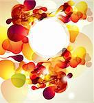 Abstract vector illustration with transparent splashes and bubbles Stock Photo - Royalty-Free, Artist: marinakim                     , Code: 400-04352637