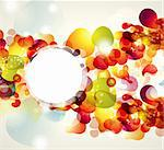 Abstract vector illustration with transparent splashes and bubbles Stock Photo - Royalty-Free, Artist: marinakim                     , Code: 400-04352639