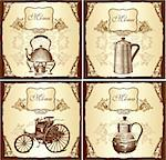 Retro design cover menu Stock Photo - Royalty-Free, Artist: marinakim                     , Code: 400-04352785
